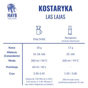 Jak zrobić kawę: Kostaryka Las Lajas - HAYB Speciality Coffee