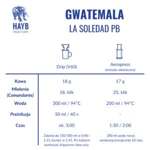 Jak zrobić: Gwatemala La Soledad PB