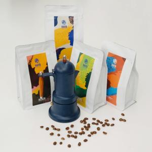 Urodzinowy Zestaw: kawiarka + Espresso Starter Pack