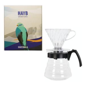 Zestaw Hario V60 + kawa z Gwatemali