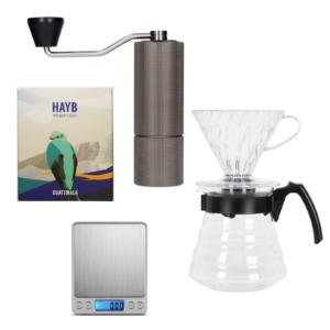 Zestaw Hario V60, młynek Timemore i kawa z Gwatemali