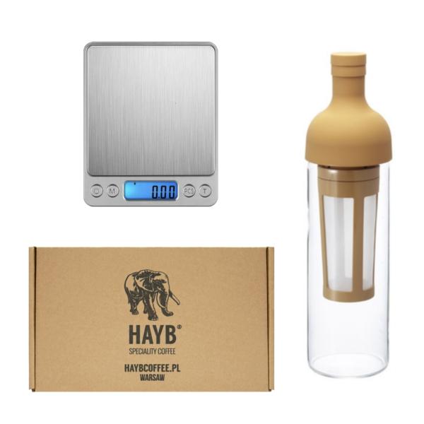 Zestaw butelka do cold brew + tasting box