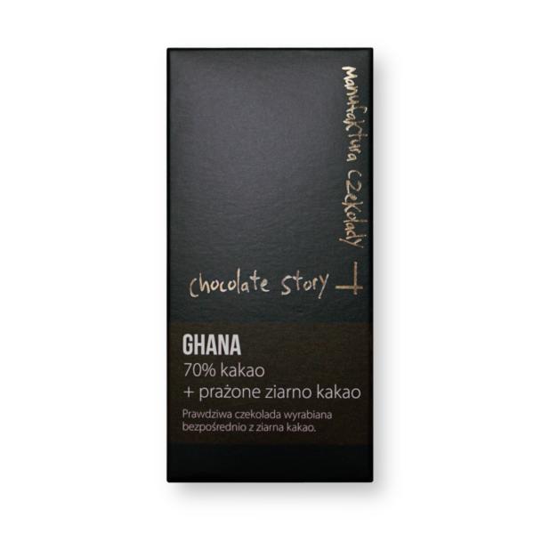 Manufaktura Czekolady Ghana 70% + prażone ziarno kakao